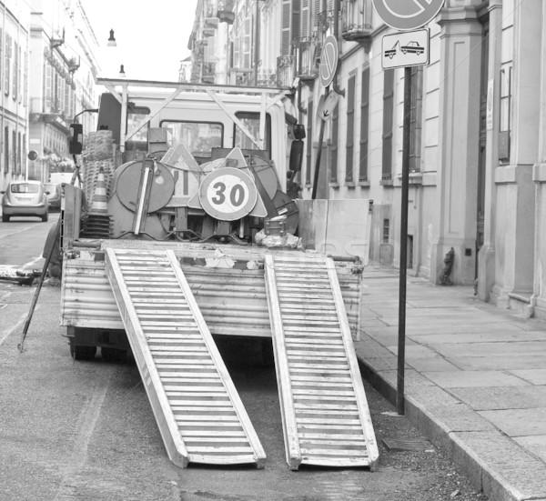 Roadworks signs Stock photo © claudiodivizia