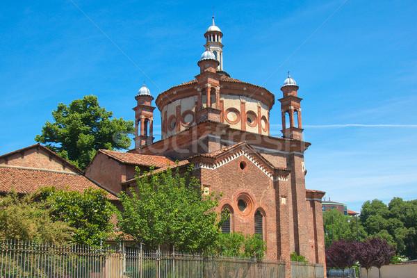 Kerk milaan basiliek Italië retro Europa Stockfoto © claudiodivizia