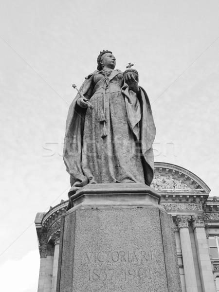 Királynő szobor Birmingham Anglia Stock fotó © claudiodivizia
