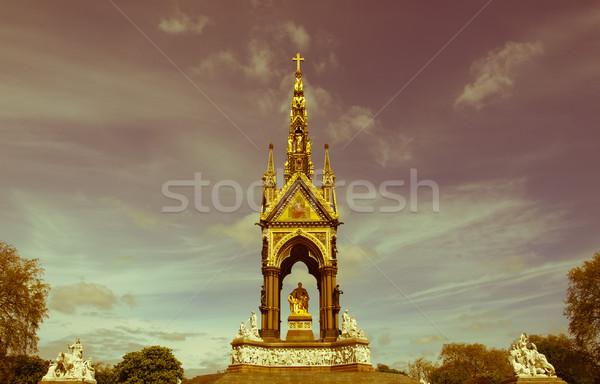 Retro looking Albert Memorial London Stock photo © claudiodivizia