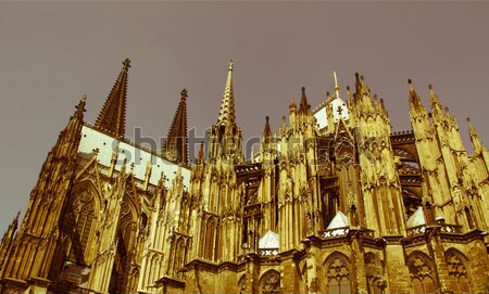 Retro looking Koeln Dom Stock photo © claudiodivizia