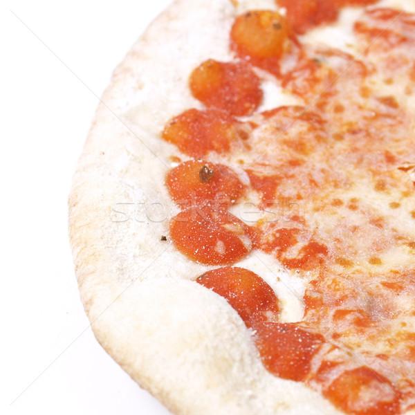 Foto stock: Pizza · tradicional · comida · italiana · queijo · branco · refeição