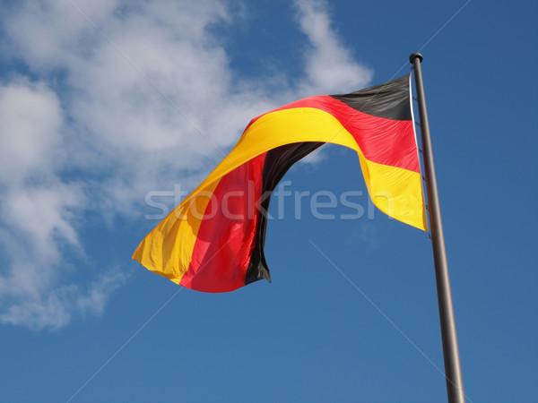 Pavillon Allemagne ciel bleu nature fond bleu Photo stock © claudiodivizia