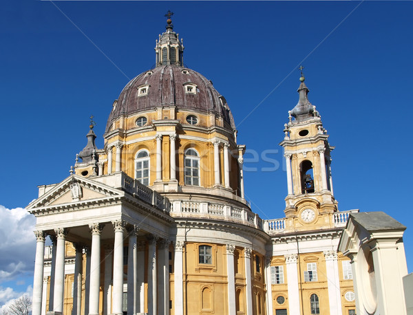 Basilique baroque église colline Italie Photo stock © claudiodivizia