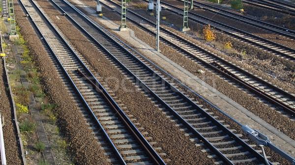 Vasút vasúti sinek vonat közlekedés út város Stock fotó © claudiodivizia
