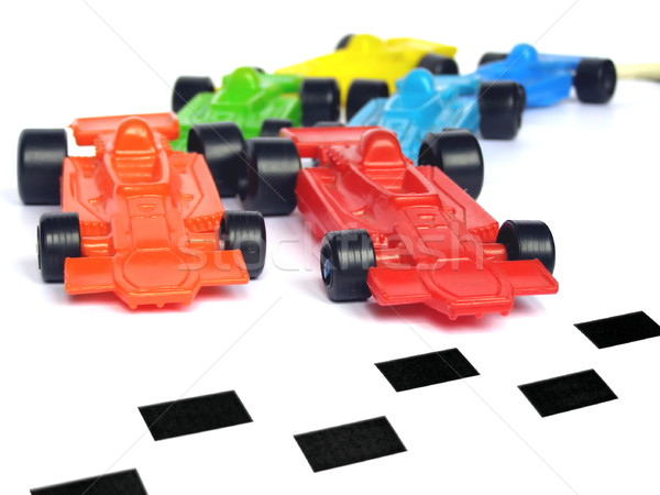 F1 formule een racing auto speelgoed model Stockfoto © claudiodivizia