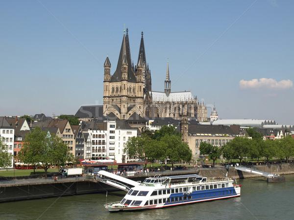 Панорама Германия Готский собора реке город Сток-фото © claudiodivizia