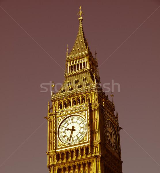 Retro looking Big Ben London Stock photo © claudiodivizia