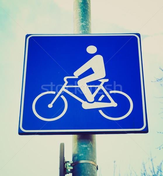 レトロな 見 自転車 レーン にログイン ヴィンテージ ストックフォト © claudiodivizia