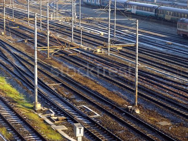 Spoorweg trein vervoer vervoer Stockfoto © claudiodivizia