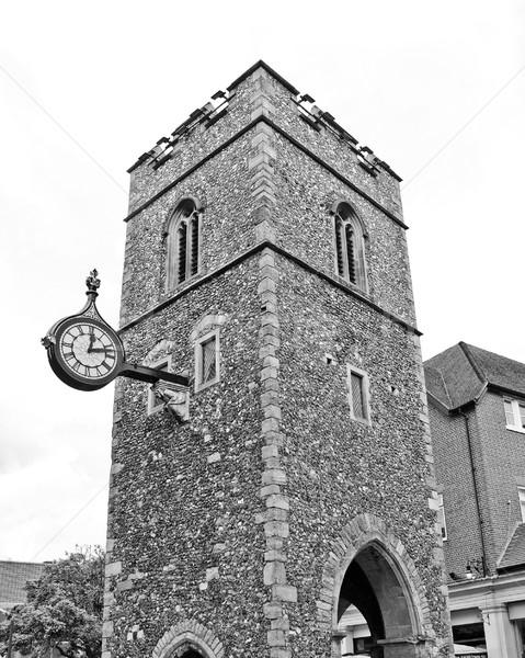 Kilise ören bağbozumu kule din Stok fotoğraf © claudiodivizia