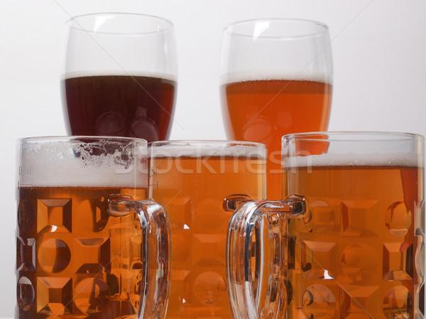 Bira çok gözlük alkol Almanya soluk Stok fotoğraf © claudiodivizia
