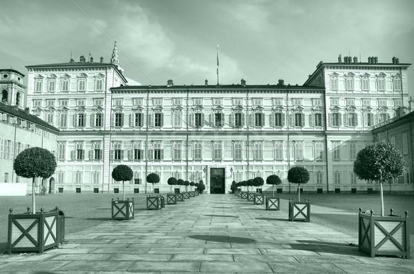 Stock fotó: Torino · királyi · palota · Olaszország · magas · dinamikus