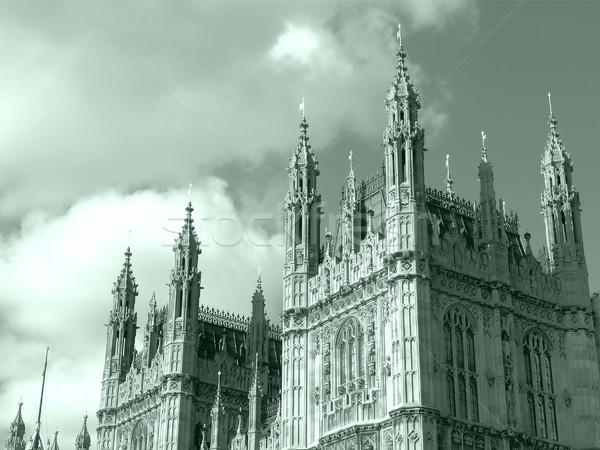 Házak parlament Westminster palota London gótikus Stock fotó © claudiodivizia
