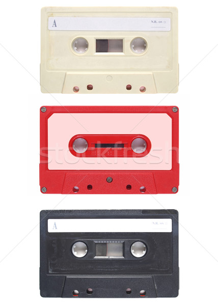 Bant kaset manyetik ses müzik yalıtılmış Stok fotoğraf © claudiodivizia