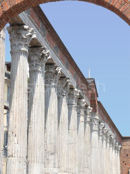 Colonne di San Lorenzo, Milan Stock photo © claudiodivizia
