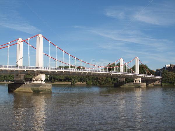реке Темза Лондон панорамный мнение воды Сток-фото © claudiodivizia