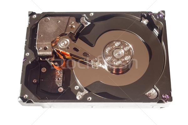 Merevlemez részlet számítógép adattárolás izolált fehér Stock fotó © claudiodivizia