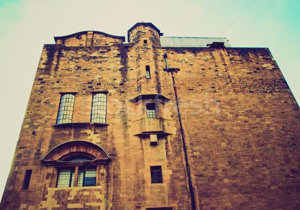 Retro guardando Glasgow scuola arte vintage Foto d'archivio © claudiodivizia