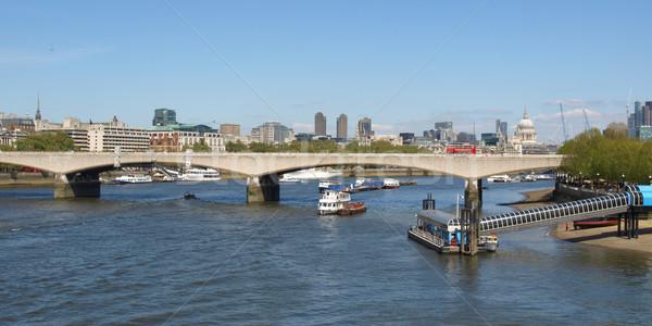 Rivière thames Londres panoramique vue ville Photo stock © claudiodivizia