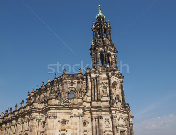 Dresden Hofkirche Stock photo © claudiodivizia
