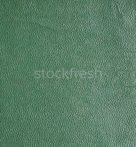 Green leatherette background Stock photo © claudiodivizia