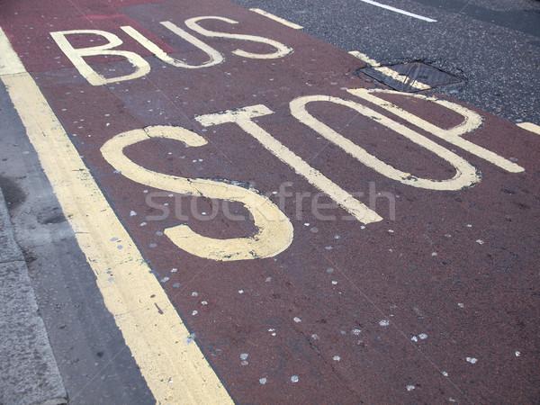バス停 にログイン 道路 通り ストックフォト © claudiodivizia