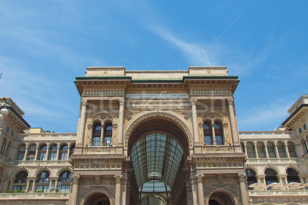 Milaan Italië vintage oude stad europese Stockfoto © claudiodivizia