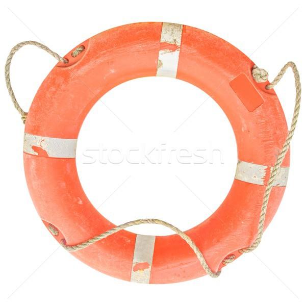 Salvagente foto isolato arancione acqua mare Foto d'archivio © claudiodivizia