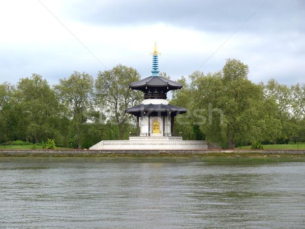Paz pagoda Londres japonés templo Foto stock © claudiodivizia