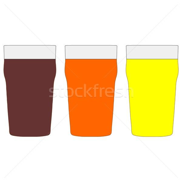 Quartilho cerveja amargo vidro branco Foto stock © claudiodivizia