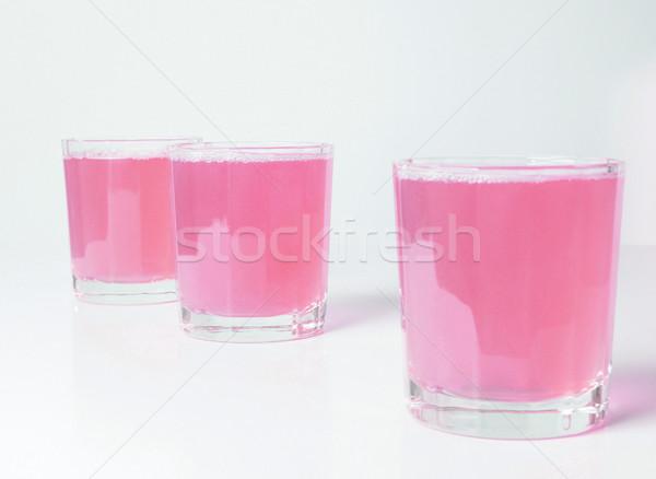 Rosa pompelmo succo occhiali colazione continentale tavola Foto d'archivio © claudiodivizia
