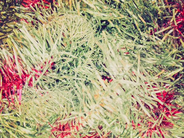 Retro aussehen Weihnachten Jahrgang schauen Weihnachtsbaum Stock foto © claudiodivizia