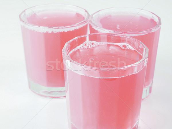 Pembe greyfurt meyve suyu gözlük kontinental kahvaltı tablo Stok fotoğraf © claudiodivizia