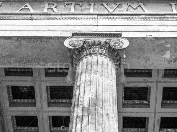 ベルリン 博物館 古美術品 ドイツ 黒白 建物 ストックフォト © claudiodivizia