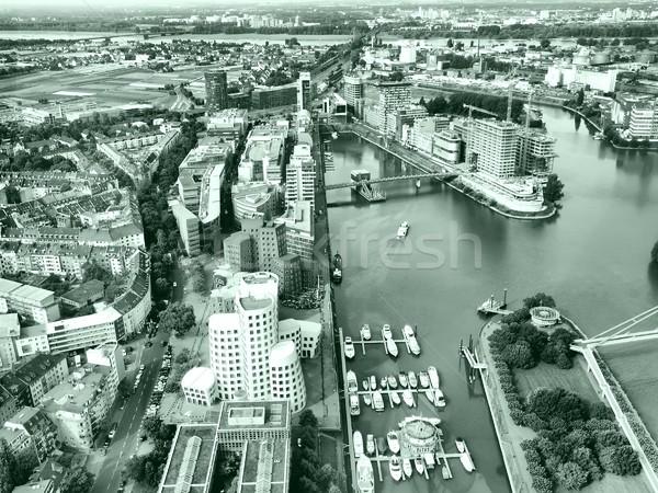 Widoku port Niemcy wysoki dynamiczny Zdjęcia stock © claudiodivizia