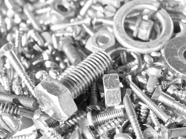 аппаратных промышленных стали орехи ногтя железной Сток-фото © claudiodivizia