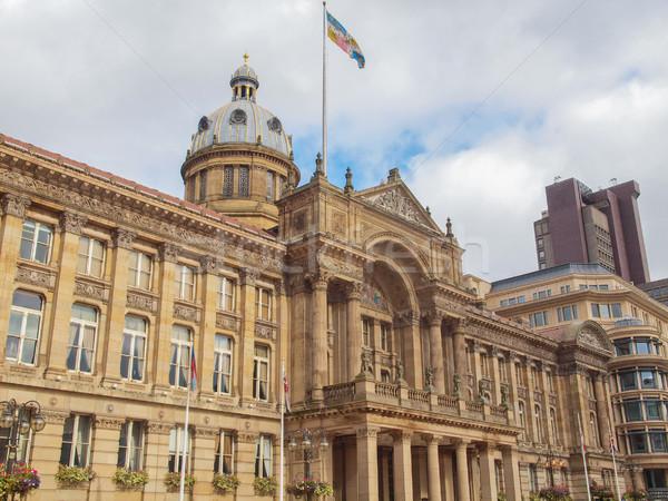Tér Birmingham Anglia Egyesült Királyság retro építészet Stock fotó © claudiodivizia