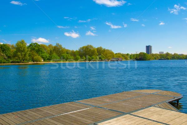 Serpentine lake, London Stock photo © claudiodivizia