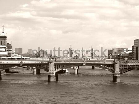 Rivier theems Londen panoramisch hoog Stockfoto © claudiodivizia