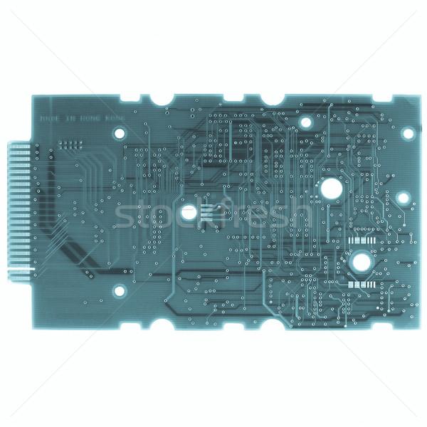 Basılı devre detay elektronik baskılı devre yalıtılmış Stok fotoğraf © claudiodivizia