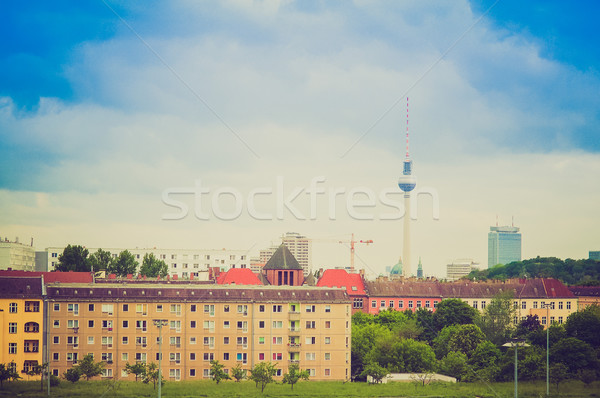 Retro look Berlin Germany Stock photo © claudiodivizia