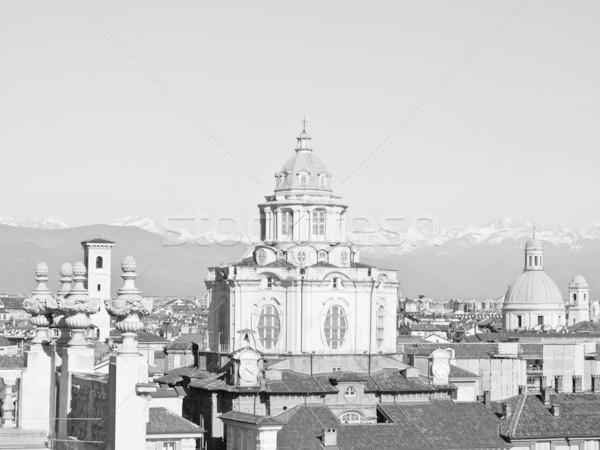Torino centrale barocco piazza Italia nero Foto d'archivio © claudiodivizia