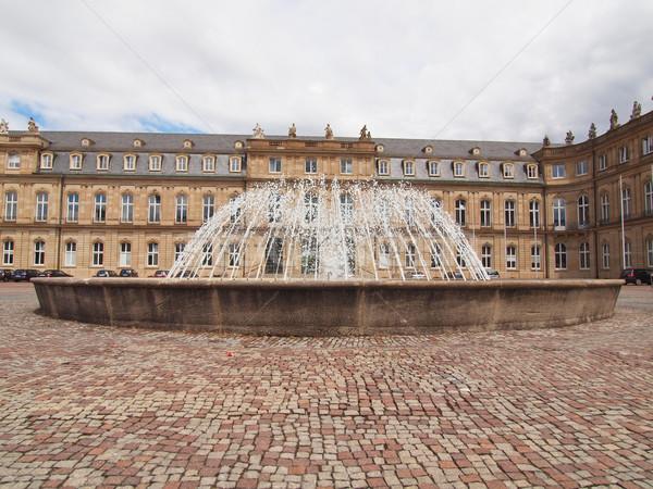 Schlossplatz (Castle square) Stuttgart Stock photo © claudiodivizia