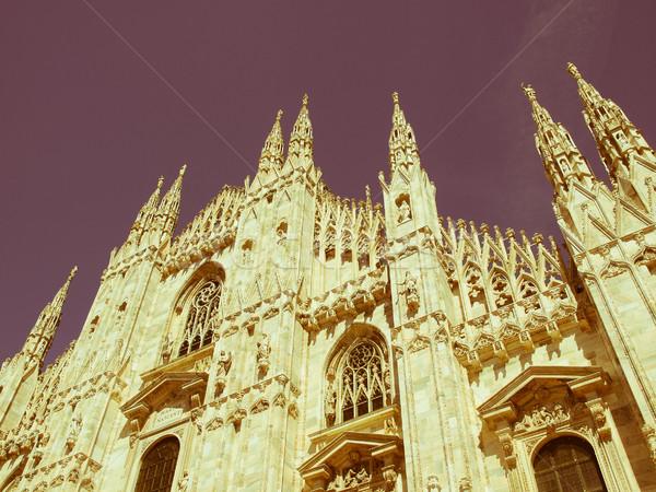 Retro looking Duomo, Milan Stock photo © claudiodivizia