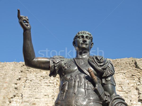Empereur statue anciens romaine Londres architecture Photo stock © claudiodivizia