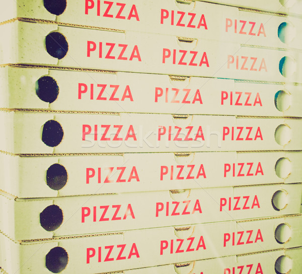 Retro look Pizza Stock photo © claudiodivizia