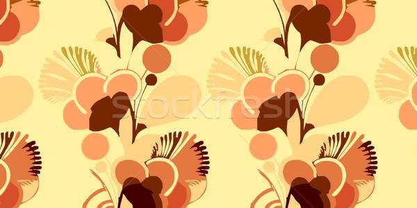Behang sixties psychedelic Londen stijl bloemen Stockfoto © claudiodivizia
