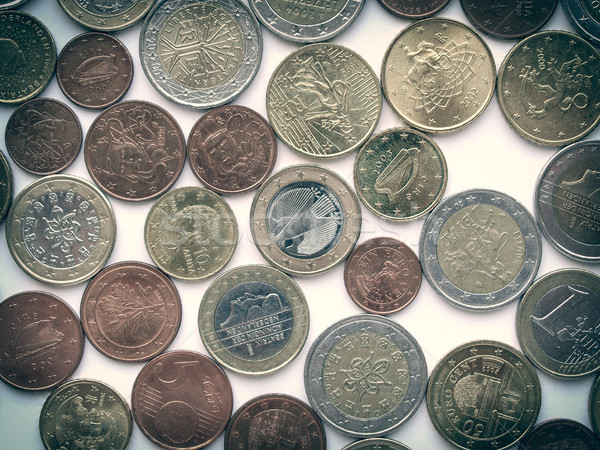 Rétro Rechercher euros photos vintage regarder Photo stock © claudiodivizia