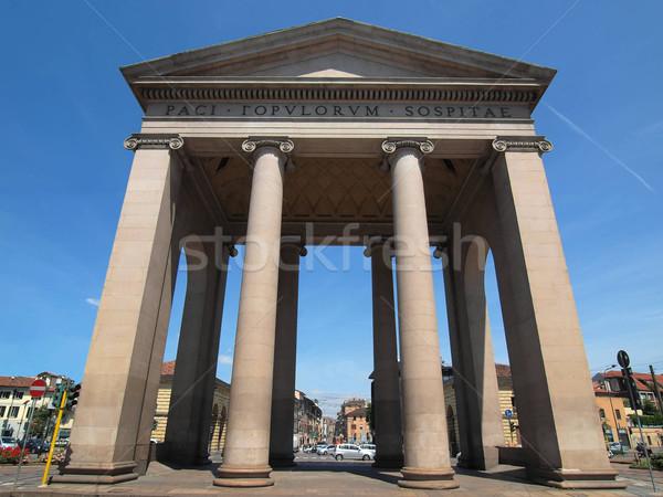 ミラノ ドア イタリア ヴィンテージ ヨーロッパ 古代 ストックフォト © claudiodivizia